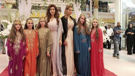 Opening day of the Al Reem Bazaar with the presence of Lojain Omran and Eman Al Flamarzi.