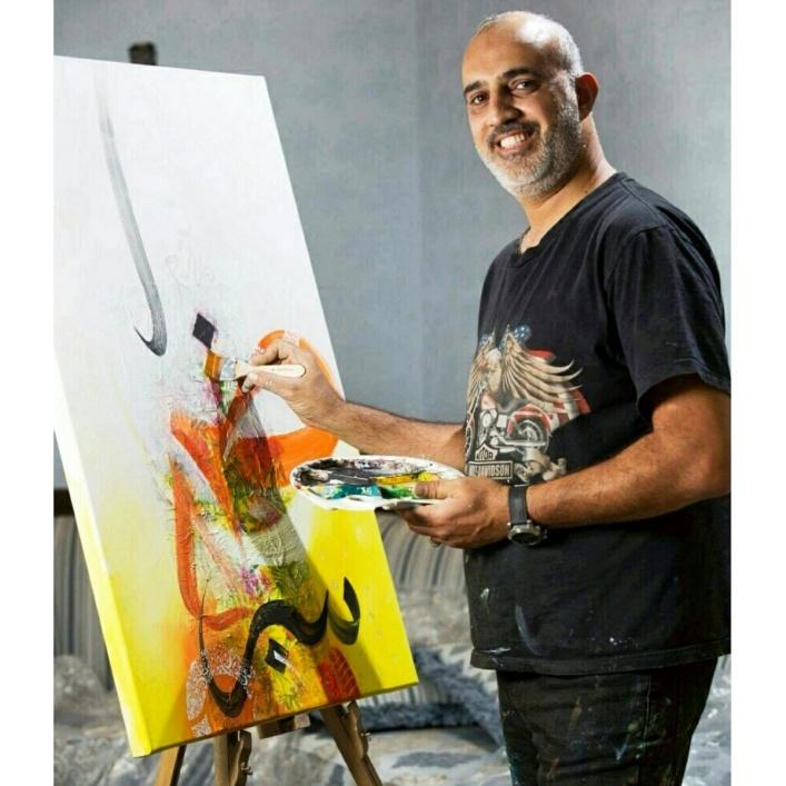Bahraini Artist Mohsen Gareeb at Wafi Mall